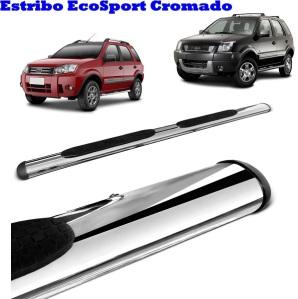 Estribo Lateral Ford EcoSport eco sport Cromados 2003 2004 2005 2006 2007 2008 2009 2010 2011  AutoAba Acessórios