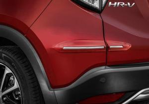 Friso Protetor de Parachoque Modelo Original Com detalhe Cromo cromado Pintado na Cor do carro Honda Hrv Hr-v AutoAba Acessórios
