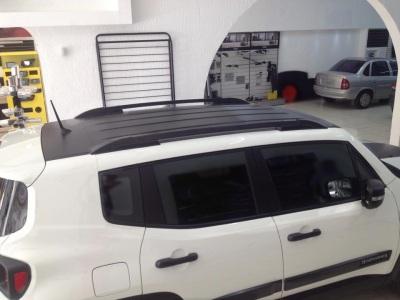 Longarinas de Teto Jeep Renegade na cor Preta - AutoAba Acessórios
