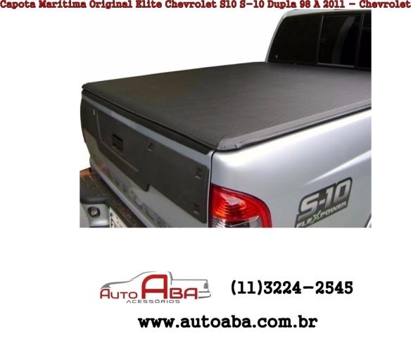 Capota Marítima Original Elite Chevrolet S10 S-10 Dupla 98 A 2011 - Chevrolet