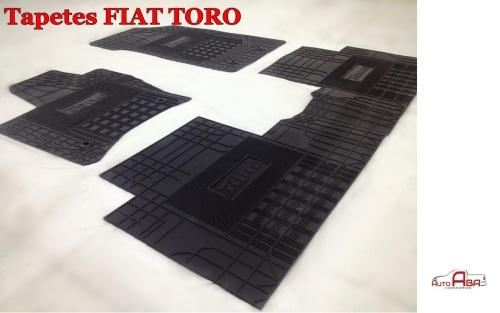 Jogo de tapetes Borracha super reforçado Novo Fiat Toro - AutoAba acessórios 5