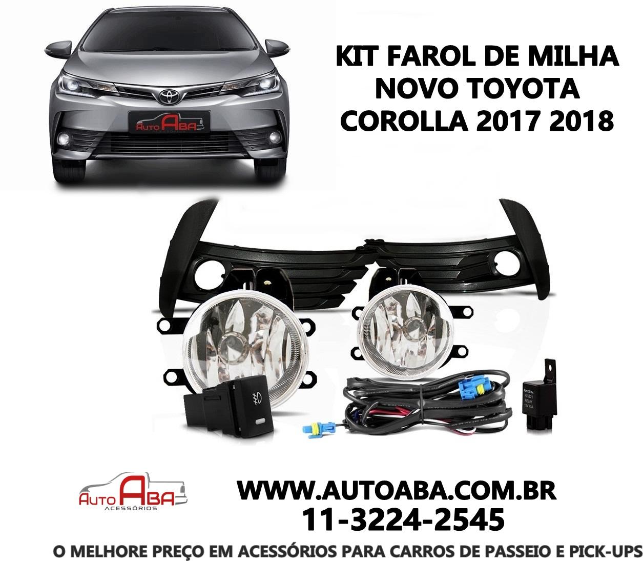 Kits de Farol Farois de Milha Auxiliares New Novo Corolla 2017 2018 AutoAba Acessórios 2